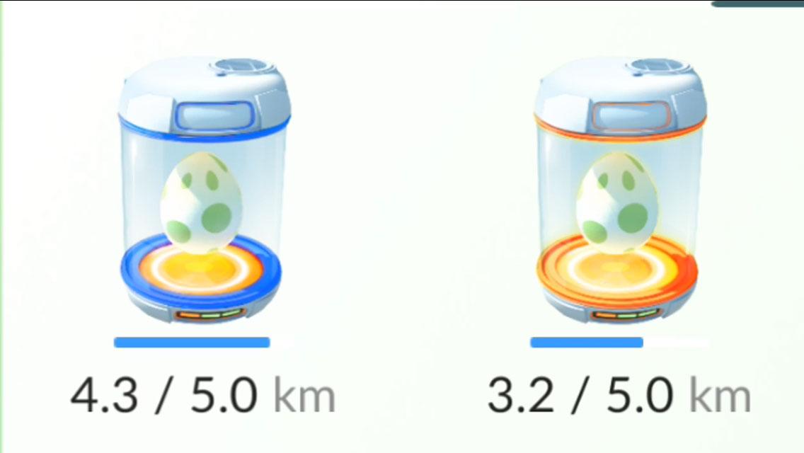 Para chocar ovos de Pokémon, o jogador deve andar os quilômetros indicados pelo app (Imagem: reprodução)
