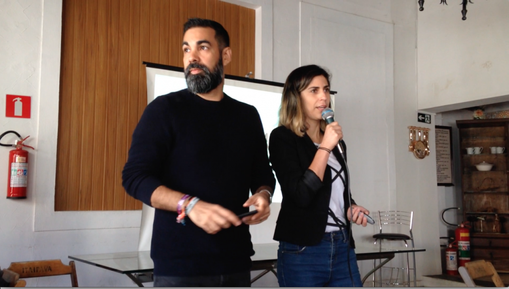 Carol Soares e Franklin Costa falaram sobre nomadismo no Hack Town 2017
