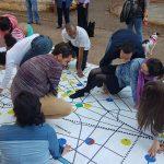 Pessoas jogando com patrimônios de São Paulo no Tuíster da Cidade