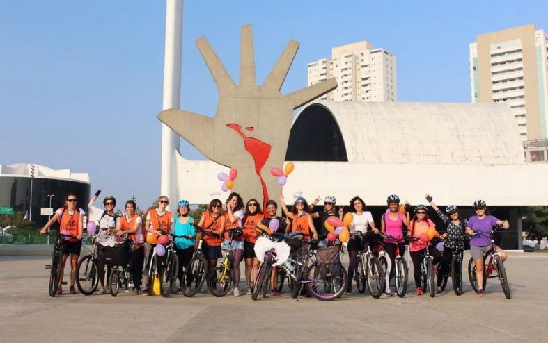 Bike anjas fazem roda de conversa na Virada Sustentável